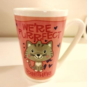 5/$6😲 Valentine's day kitty cat coffee mug